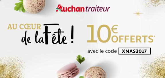Auchan traiteur : 10€ offerts avec le code XMAS2017