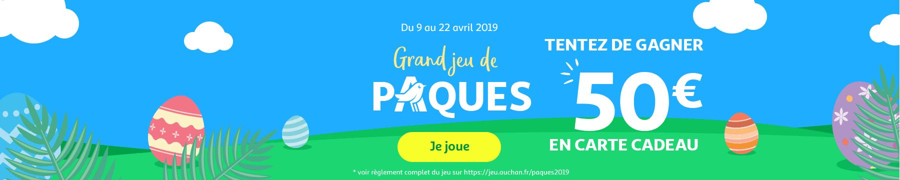Du 9 au 22 avril 2019 : le grand jeu de Pâques