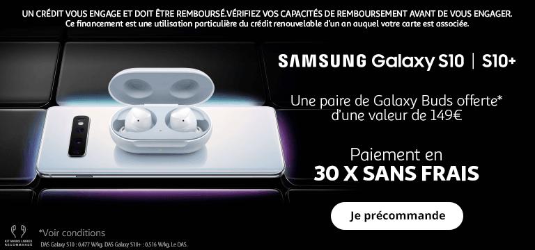 Précommandez le Samsung Galaxy S10