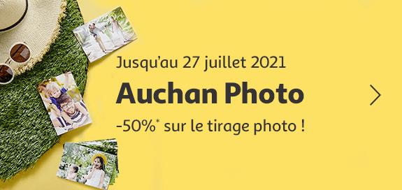 Auchan photo -50% sur le tirage photo !