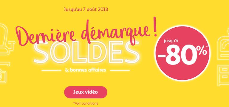 Du 17/07 au 30/07/2018, Soldes jusqu'à -80% en jeux vidéo
