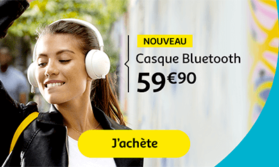 Casque Bluetooth 59€90