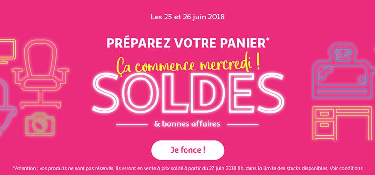 Les 25 et 26 juin 2018, préparez votre panier - Les soldes commencent mercredi !