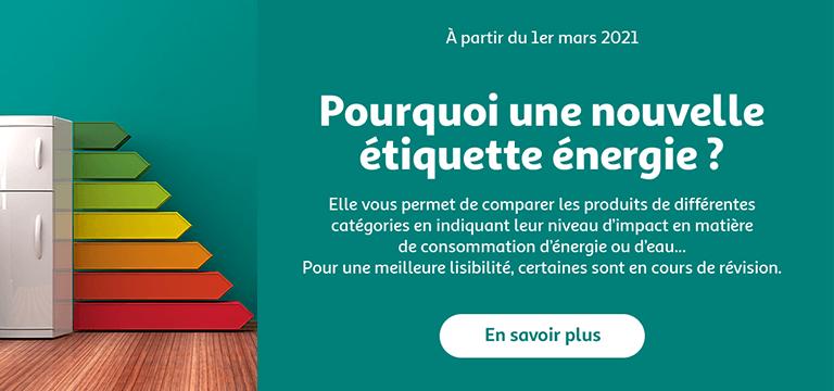 Informations sur la nouvelle étiquette énergie