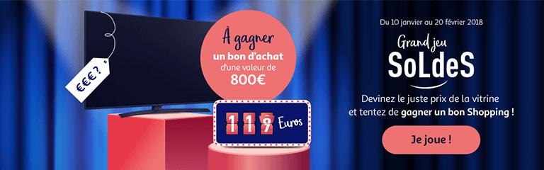 Du 10 janvier au 20 février 2018 : Grand jeu Auchan Soldes