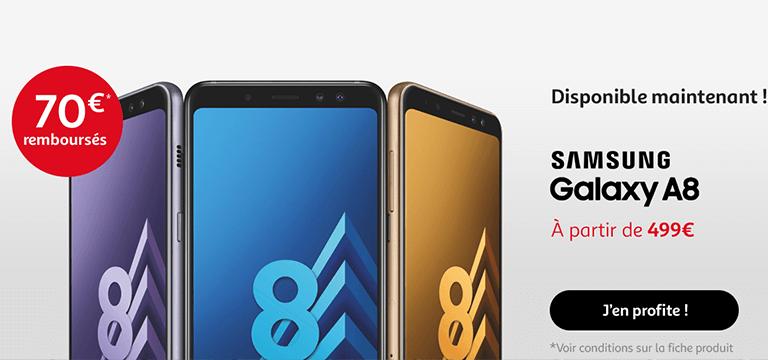 Samsung Galaxy A8, 70€ remboursés sous condtions *