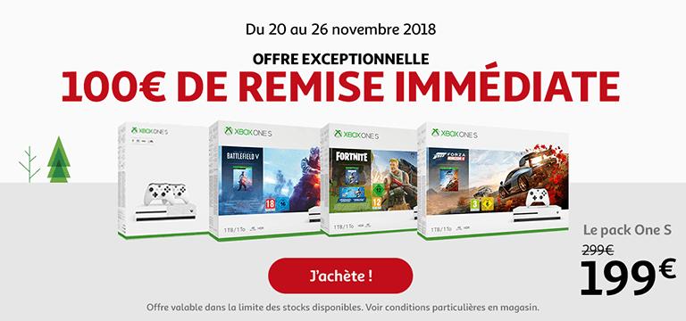 Jusqu'au 26 novembre : 100€ de remise immédiate sur les consoles XBox