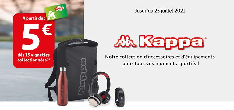 Kappa, notre collection d'accessoires et d'équipements pour tous vos moments sportifs ! Jusqu'au 25 juillet 2021