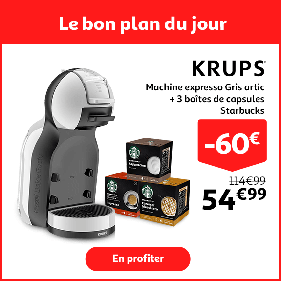 MACHINE A CAFE KRUPS + 3 PACKS DE DOSETTES