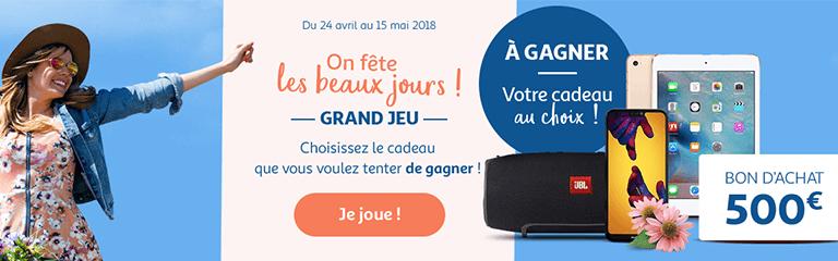 Du 24 avril au 15 mai 2018 : Grand jeu On fête les beaux jours !