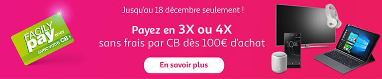 Jusqu'au 18 décembre seulement : Payez en 3X en 4X sans frais par CB dès 100€ d'achat
