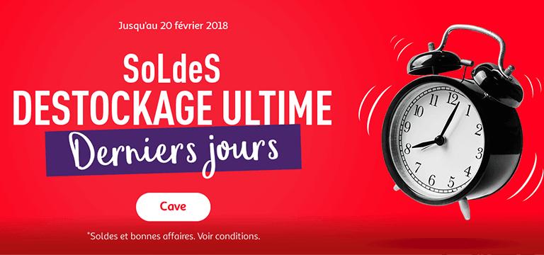 Du 10/01 au 20/02/2018, Soldes jusqu'à -60% en vin, champagne et alcool