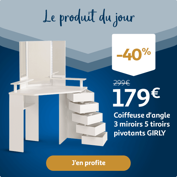 Coiffeuse d'angle GIRLY : 179€