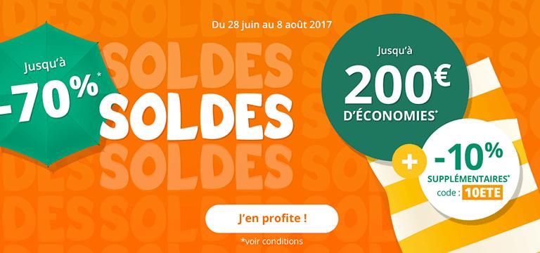 Du 28 juin au 8 août 2017 : soldes jusqu'à -70%