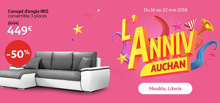 Du 16 au 22 mai : l' anniv Auchan