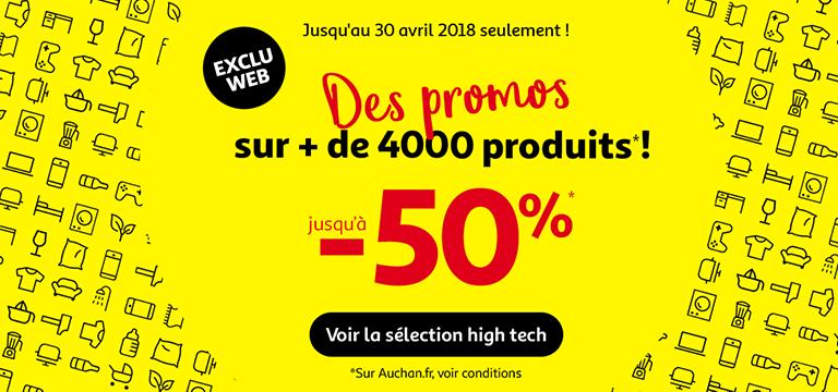 Jusqu'au 30 avril, des promos sur + de 200 produits jusqu'à -60%