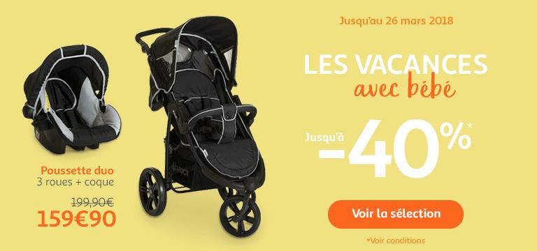 Jusqu'au 26 mars : les vacances avec bébé jusqu'à -40%