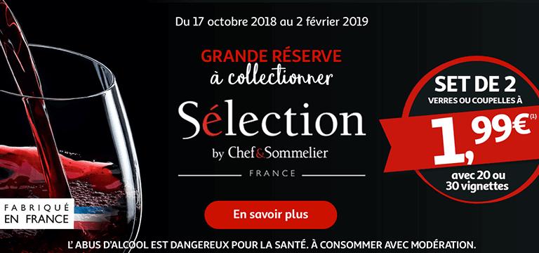 Du 17 octobre 2018 au 2 février 2019 : Grande réserve à collectionner, Sélection by Chef&Sommelier !