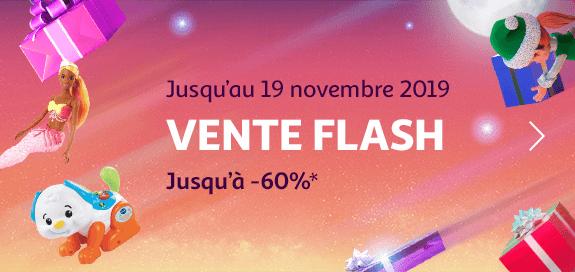 Vente flash jouet, jusqu'à -60%