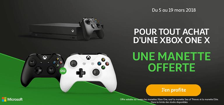 Pour tout achat d'une Xbox One X : une manette offerte