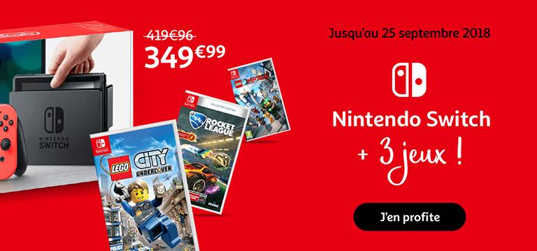 jusqu'au 25 septembre : Nintendo Switch + 3 jeux !