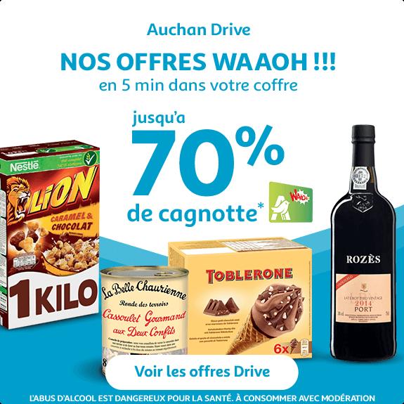 Les offres Waaoh chez Auchan Drive
