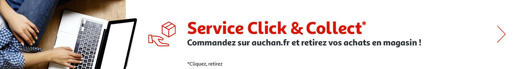 Click & collect, commandez sur Auchan.fr et retirez vos achats en magasin !